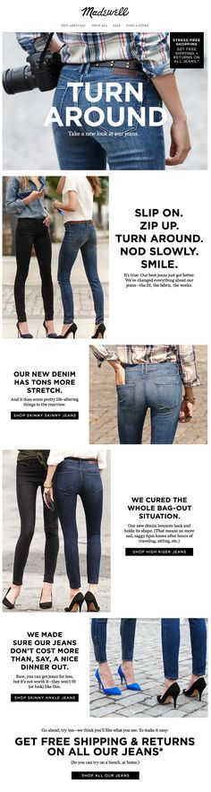 Madewell : Denim Story // Email Design