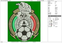 Soccer Embroidery Designs Mexico Logo   4 5 & by OneSuperDesign, $9.50