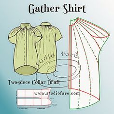 well-suited: Pattern Puzzle - Gathered Shirt