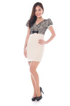 Gladys Lace Work Dress S$31.00 from: Chitzabelle