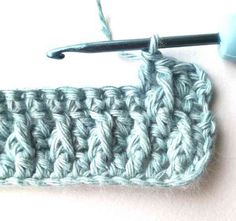 Alpine stitch - Nordic Hook Tunisian Crochet, Crochet Stitches, Crochet Patterns, Triple Crochet Stitch, Single Crochet, Crochet Gratis, Free Crochet, Front Post Double Crochet, Foil Stamping