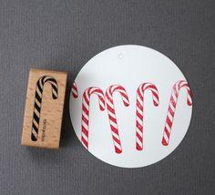 Stempel Zuckerstange von perlenfischer auf DaWanda.com - süßes Weihnachtsmotiv
