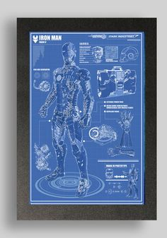 Iron Man Mark 5 Suit Blueprint