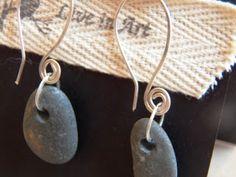 Live In Art: Natural Rock Earrings