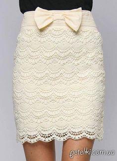 Очень красивая прямая юбка. Схемы вязания крючком