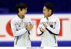 (L to R) Yuzuru Hanyu (JPN), Daisuke Takahashi (JPN), December 23, 2012 - Figure Skating : Japan Figure Skating - Stock Image