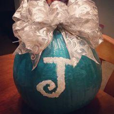 Painted pumpkin monogram fall Halloween