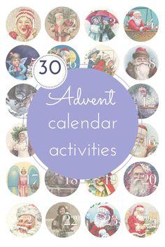 30 fun Christmas advent calendar activities!