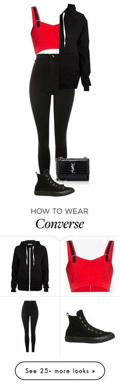 """Untitled #881"" by ayalikeschicken on Polyvore featuring Topshop, Alexander McQueen, River Island, Yves Saint Laurent and Converse"