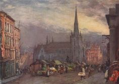 'St. Martin's Church, Birmingham' by Frederick Whitehead. Birmingham, 1906