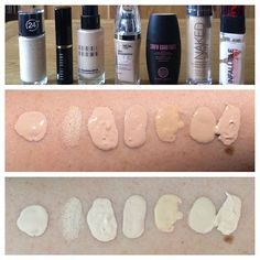 Nails for pale skin Pale foundation swatches! (All in order under their corresponding bottles)Middle. (All in order under their corresponding bottles)Middle photo is in sunlight. Bottom photo is indoors. Bobbi Brown Foundation, Bobbi Brown Skin Foundation, Pale Skin Makeup, Pale Face, Skin Shades, Skin Brightening, Base, Stiletto Nails, Spring Nails