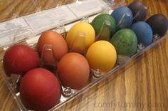 Easter, Eggs, Crafts, Natural Egg Dyes, DIY,