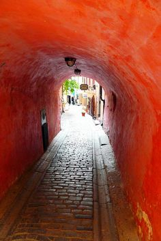 Stockholm, Sweden alleyway. I have a picture in that exact tunnel!