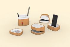 Papere's Kinhas Stationery is a sustainably designed workspace organizer