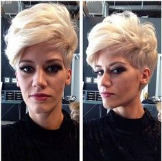 Messy Short Haircut for Long Face Shape: