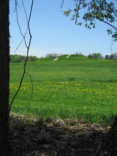 The largest mound at Aztalan, a Mississipian outpost in Wisconsin with ties to Cahokia.