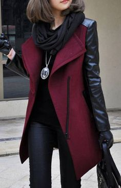 Bent Neck Open Front Thick Coat (More Colors Available) – Trendy Road