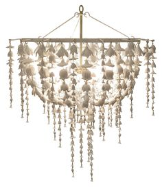 Cast Resin w/Flower Detail; Includes Canopy & 3-Foot Chain *Four Bulbs Not to Exceed 60W