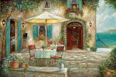 Casa d'Amore Art Print by Ruane Manning at Art.com
