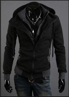 Modern Double Zipper Hooded Jacket
