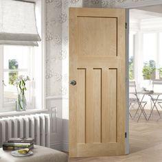 Bespoke DX 1930'S Oak Panel Door - Prefinished.    #bespokedoor #oakdoor #perioddoor #1930door #dxdoor #periodhome #shakerdoor