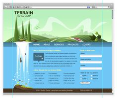 In this tutorial, you'll create an organic style green website with Adobe Illustrator. This tutorial shows you how to create illustrative vector graphics and apply this to web design layouts. Let's get started!