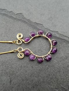 20%off Valentine Day sale Amethyst Necklace 18k gold plated jewelry – Luzjewelrydesign