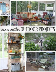 Warm Weather Outdoor Decorating Ideas - start planning now for the better weather that IS coming.