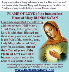 Flame of Love of the Immaculate Heart of Mary Mother Mary Images, Images Of Mary, Daily Morning Prayer, Morning Prayers, Roman Catholic Prayers, Praying For Someone, Christian Friends, Catholic Religion, Blessed Mother Mary