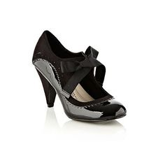 Black Wider Fit Brogue Trimmed Mary Janes - Wide fit - Shoes & boots - Women -