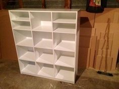 LARGE 12 Cube Storage Unit - Painted white.. Cube Storage Unit, The Unit, Room, Design, Bedroom, Rooms, Rum, Peace