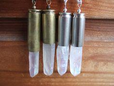 XL Opal Aura Crystal Bullet Necklace on Etsy, $30.00