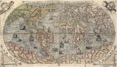 Os mapas desenhados pelo cartógrafo Piri Reis, em 1513, basearam-se em antigos papéis. Neles, é possível perceber que uma porção de terra da América do Sul liga-se ao litoral da Antártida em períodos pré históricos. (Reprodução/ Extreme Tech)