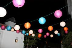 Love the hanging lanterns in multi-color!