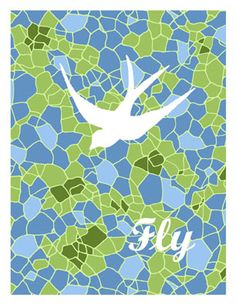 """Fly"" Note card. #suzalapaper #mainemade #spugnardidesign #hurryhurryprinter #pattern #print"
