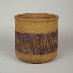 Michael Cohen studio pottery stoneware planter by monstermustdie