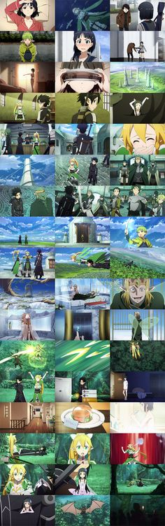 Sword Art Online Episode 18 - To the World Tree (世界樹) SNAPSHOT<-----Okay. Whoever is putting these together is awesome.