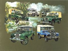The Land Rover Series 1 1948 58 Fine Art Print 80 86 88 107 inch Pick