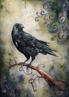 Beautiful raven artwork