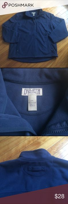 Duluth Trading Shoreman's windproof fleece jacket Brand new Duluth Trading Co. Men's Windproof heavy fleece jacket. XXL. Never worn, too big for husband. Only took off the tag and tried once...Bought at $79.5+tax. Color is a classic beautiful blue Duluth Trading Jackets & Coats Windbreakers