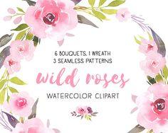 Wild roses bundle,  Wedding bouquets, Bohemian roses, Boho decor