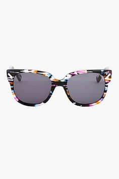 Kenzo Black & Multi-color Wayfarer Sunglasses, available at SSENSE. Unique Outfits, Pretty Outfits, Kenzo Clothing, Wayfarer Sunglasses, Swagg, Sunnies, Eyewear, Stylish, Shopping