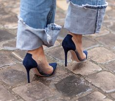 denim x heels