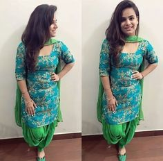 Punjabi Girls, Punjabi Dress, Punjabi Suits, Punjabi Fashion, Indian Fashion, Pakistani Outfits, Indian Outfits, Simple Indian Suits, Indian Designer Wear