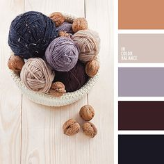 Purple and brown color inspiration