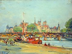 Pont des Arts Gustave Madelain (1867-1944)