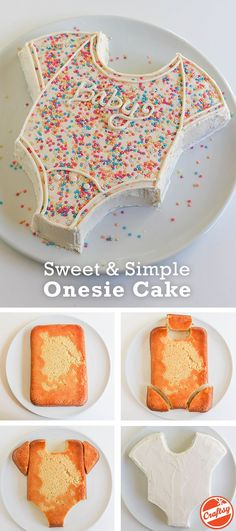 "Get a step by step baby onesie cake tutorial on the <a href=""http://Craftsy.com"" rel=""nofollow"" target=""_blank"">Craftsy.com</a>."