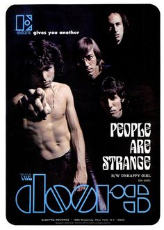 Advertisement for The Doors' 'People Are Strange', September 1967.
