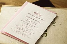 cute bicycle motif on these letterpress wedding invites by Artcadia