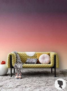 Beautiful self-adhesive removable wallpaper by Livettes! With this Sunset Ombre wallpaper you can add personalised charm to your interior in just a few minutes! Teal Accent Walls, Ombre Walls, Ombre Painted Walls, Bedroom Wall, Bedroom Decor, Bedroom Colors, Ombre Wallpapers, Self Adhesive Wallpaper, Cool Walls